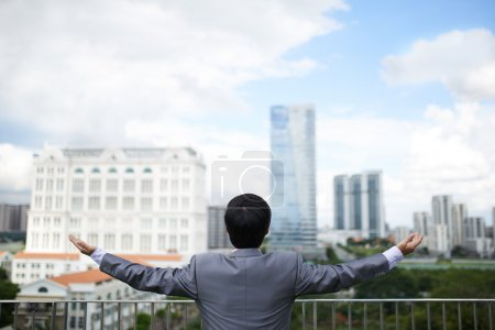 Businessman is happy to return in his hometown