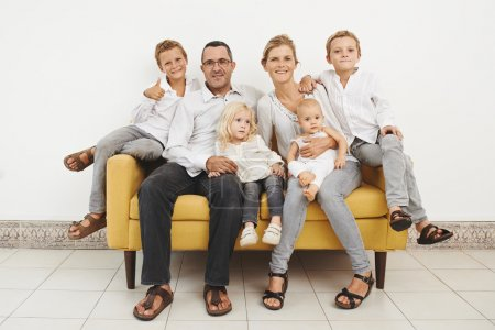 Photo for Portrait of large happy European family - Royalty Free Image