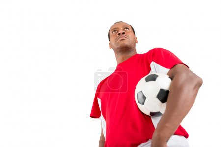 Proud soccer player