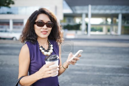 Stylish Asian woman
