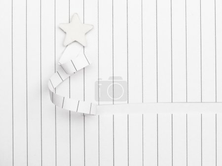handmade paper cut Xmas tree