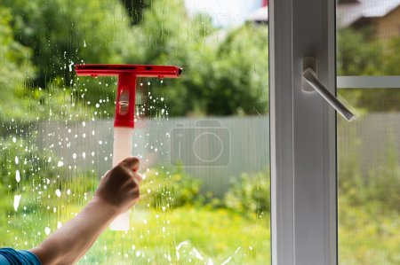 washing window with mosquito nets