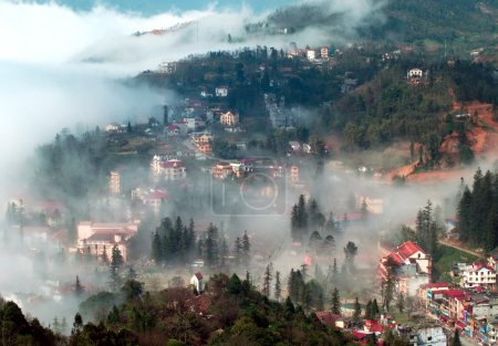 Sapa in the mist, lao cai, vietnam