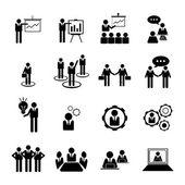 Podnikání, managementu a lidských zdrojů ikony nastavit