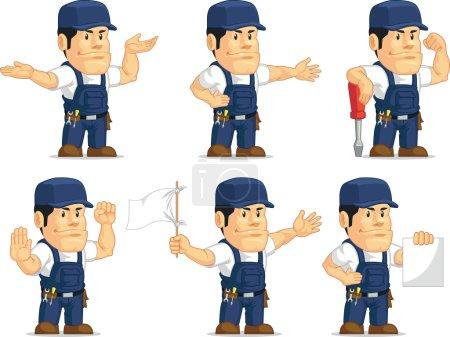 Strong Mechanic Mascot 4