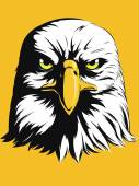 A vector image of a bald eagle vector in simple color This vector is very good for design that needs eagle head vector element or design