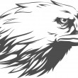 A vector image of an eagle silhouette vector. This vector is very good for design that needs bald eagle head vector element or design.