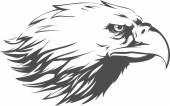 A vector image of an eagle silhouette vector This vector is very good for design that needs bald eagle head vector element or design