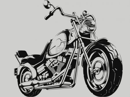 A vector image of a vintage motorcycle silhouette. This vector is very good for design that needs motorbike vector.