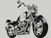 A vector image of a vintage motorcycle silhouette This vector is very good for design that needs motorbike vector
