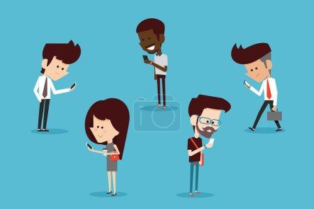 Illustration pour Style de vie moderne dessin animé design plat - image libre de droit