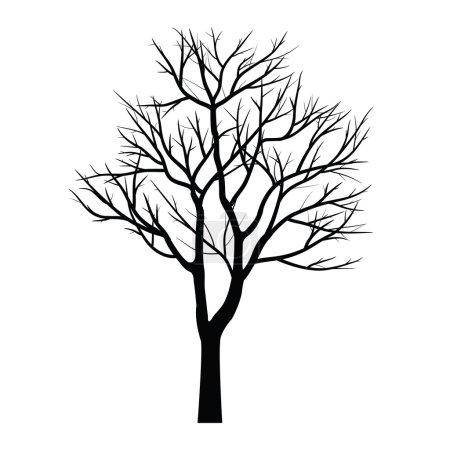 Illustration pour Arbres à branche morte - image libre de droit