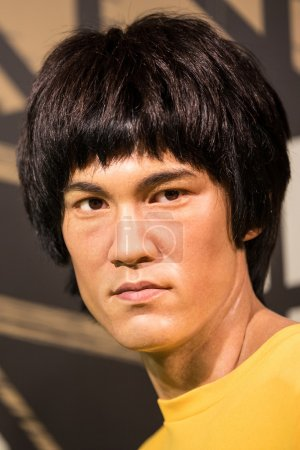 Waxwork of Bruce Lee on