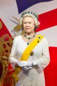 A waxwork of Queen Elizabeth