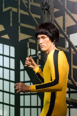 A waxwork of Bruce Lee