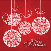 Vánoční přání. Veselé Vánoce vektorové ilustrace