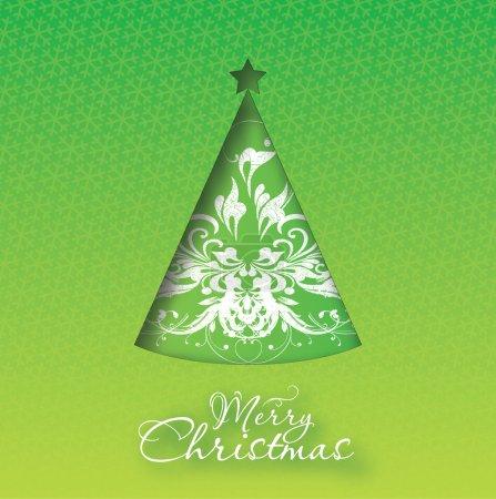 Christmas Greeting Card. Merry Christmas vector il...