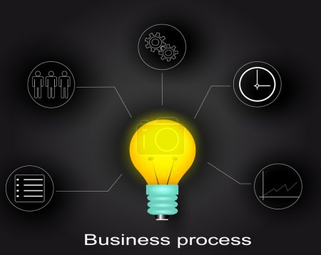 Business process infographic. Vector eps 10...