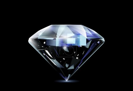 Illustration for Realistic diamond. Vector eps 10 - Royalty Free Image