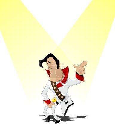 Man dressed as Elvis and