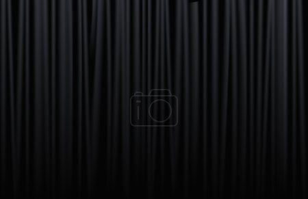 Illustration for Black curtain from the theatre with - Royalty Free Image