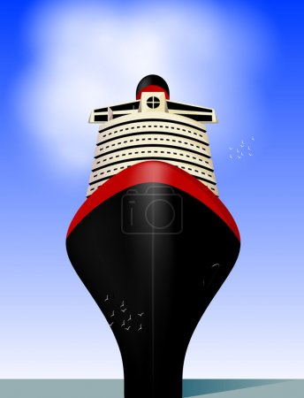Illustration for Cruise liner. Vector eps 10 - Royalty Free Image