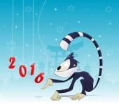 Asijské nový rok ilustrace