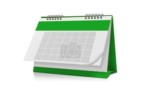 Empty  green  calendar