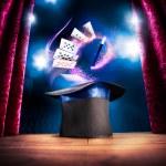 Постер, плакат: Magician hat on a stage