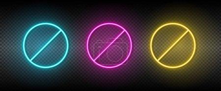 Illustration pour Lame, broche, icône vectorielle à vis jaune, rose, bleu néon ensemble. Outils icône vectorielle sur fond de transparence sombre - image libre de droit