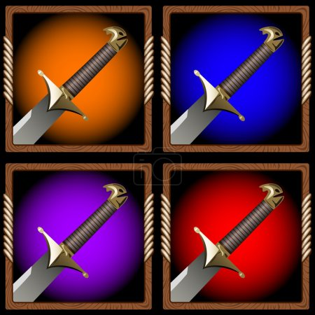 icon pirate swords