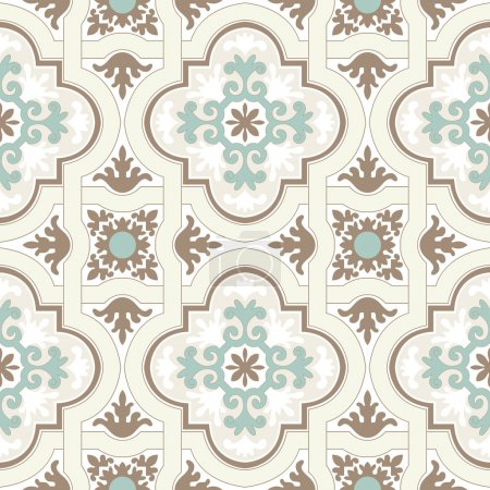 Illustration for Background vintage flower. Seamless floral pattern. Abstract wallpaper. Texture royal vector. Fabric illustration. - Royalty Free Image