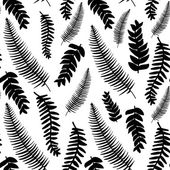 Hand drawn delicate decorative vintage leaves in black and white Elegant seamless pattern Vector illustration