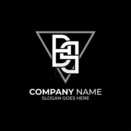 Illustration pour BS lettre initiale vecteur de logo avec forme de triangle, B et S inspirations logo - image libre de droit