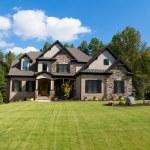 Large suburban house exterior...