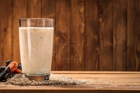 Yogurt with wheat bran as a drink for improving the digestion process