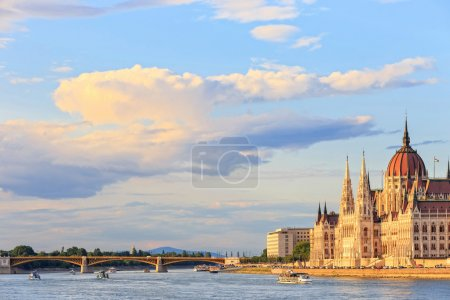 Hungarian Parliament Building in Budapest, World Heritage Site by UNESCO