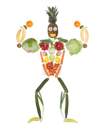 Fitness fruits and vegetables body