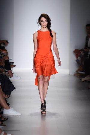 Model walks the runway at Marissa Webb during Mercedes-Benz Fashion Week Spring 2015