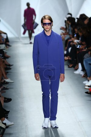 Photo for A model walks the runway at Lacoste during Mercedes-Benz Fashion Week Spring 2015 on September 6, 2014 in New York City - Royalty Free Image