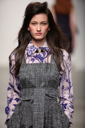 Model walks the runway at Karen Walker Spring-Summer 2015 fashion show