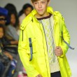 Постер, плакат: Model walks the runway during the Parsons preview