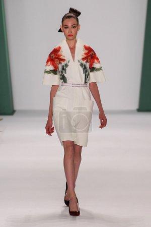 Model Lera Tribel walk the