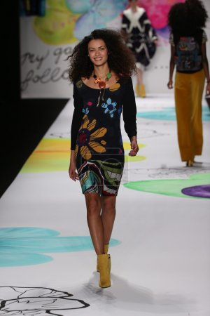 Desigual fashion show during Mercedes-Benz Fashion Week