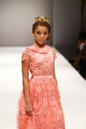 NEW YORK, NY - SEPTEMBER 10: A model walks the run...