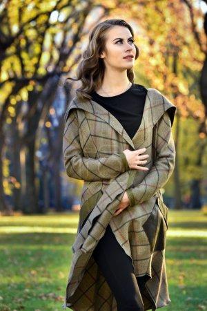 beautiful woman wearing coat
