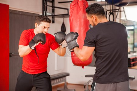 men doing some sparring