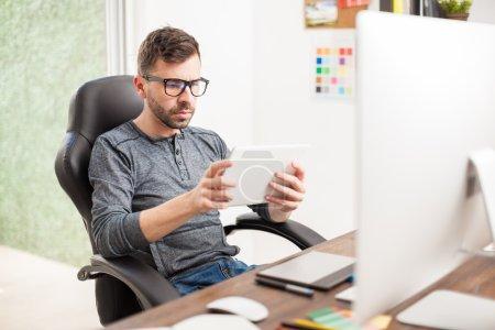 Designer using technology