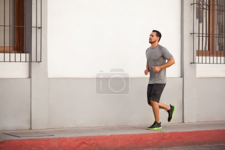 man doing some jogging