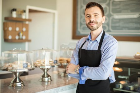 business owner wearing an apron